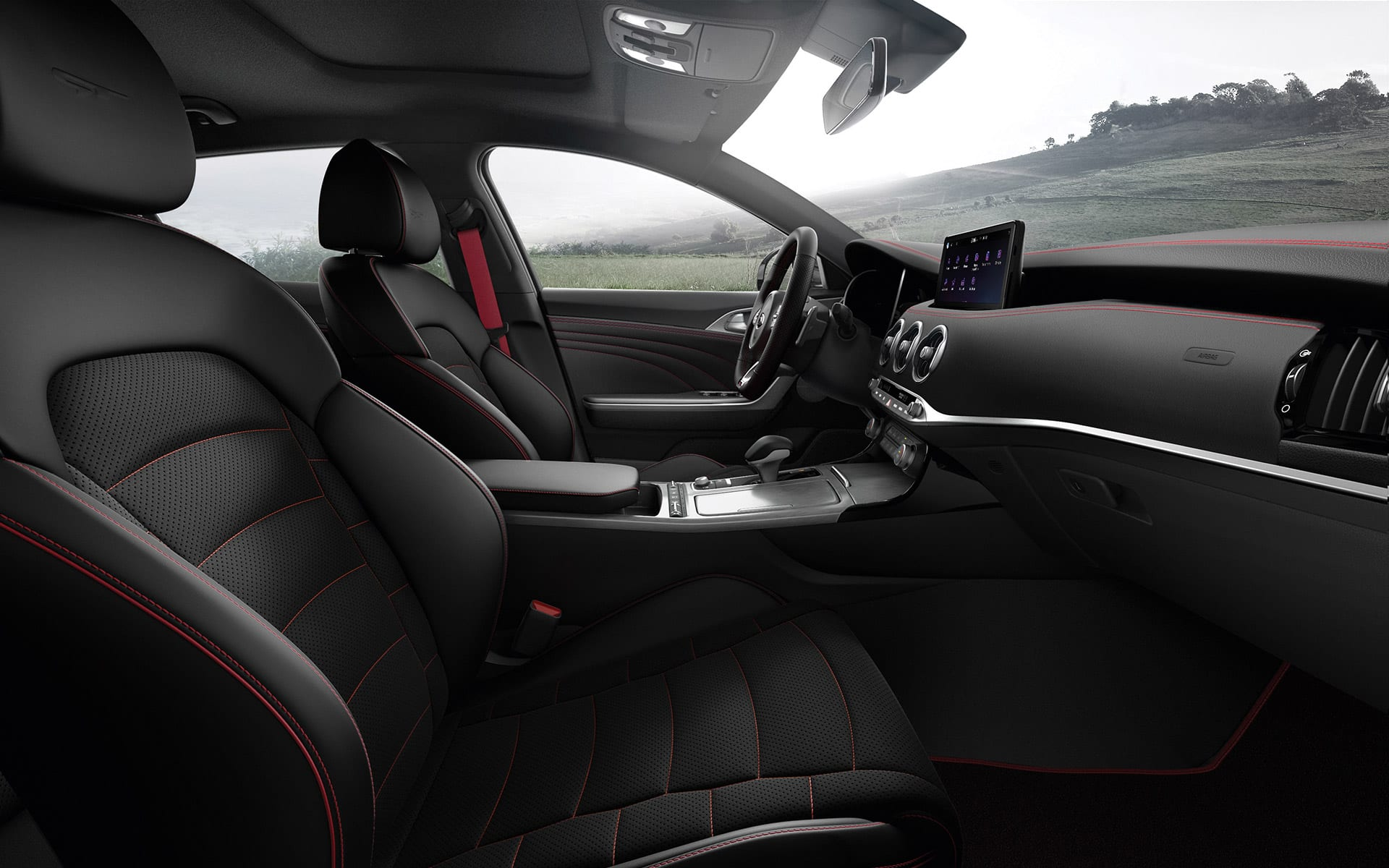 New Kia Stinger GT comfort and spacious cabin