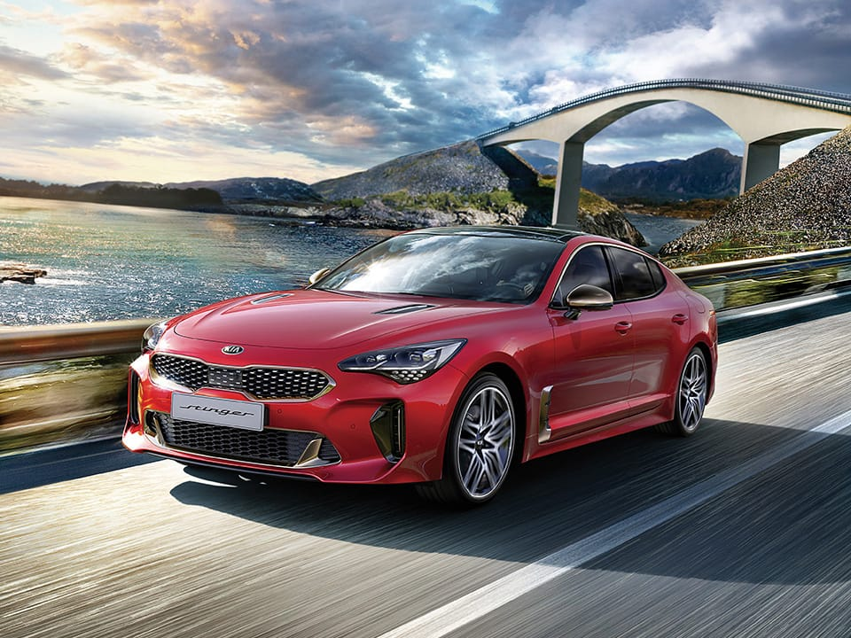 New Kia Stinger GT 5-door fastback