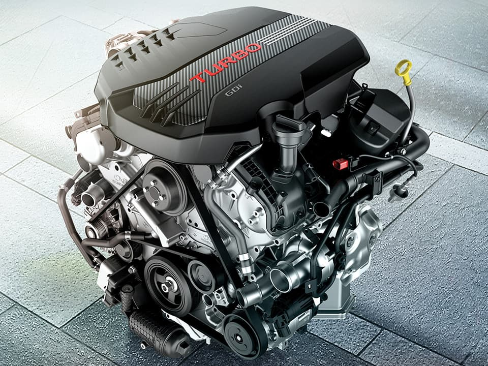 New Kia Stinger GT 3.3 T-GDi V6 370ps engine
